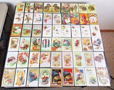 (54) VINTAGE THANKSGIVING POSTCARDS ALL WITH TURKEYS MENU ART EMBOSSED CHILDREN+ | eBay