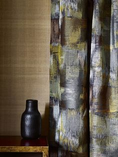 A modern and abstract addition - Metropolis fabric by Jane Churchill from Cowtan & Tout.