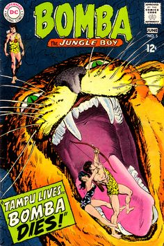 Bomba The Jungle Boy #5 (June 1968) - Cover by Jack Sparling