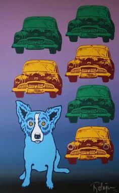 Blue Dog George Rodrigue - Junkyard Dog
