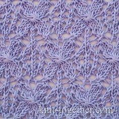 Caramel Lace Knit Pattern // Knit Together // Free