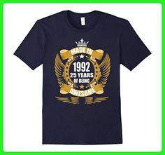 Mens 25th birthday Gift Idea 25 Year Old Boy Girl Shirt 1922 Large Navy - Birthday shirts (*Amazon Partner-Link)