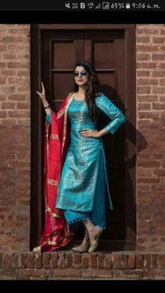 HappyShappy - India's Own Social Commerce Platform Silk Kurti Designs, Salwar Designs, Kurta Designs Women, Kurti Designs Party Wear, Salwar Kurta, Indian Salwar Kameez, Anarkali, Lehenga, Punjabi Salwar Suits