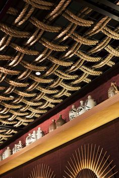 Gochi Restaurant Ceiling Design | Love the ... | ARCH = Texture, Patt…