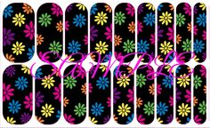 "YES, you CAN order these from ME!!! These are MY custom Jamberry design. I call them ""Bright Daisies"" and they will be available to order as soon as they are approved for print by Jamberry! #Jamberry #nails #spring #flowers"