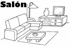 Resultado de imagen para DIBUJO DE CASA Diagram, Floor Plans, House Drawing, Salon Nails, Houses, Free Coloring Pages, Salons, Manualidades, House Floor Plans