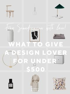 Here's what to give to a discerning loved one if you are feeling generous. Nordic Design, Scandinavian Design, Brass Candle Holders, Porcelain Vase, Home Furnishings, Best Gifts, Lovers, How To Get, Gift Ideas