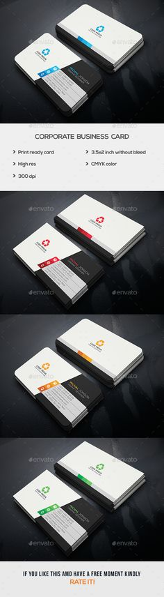 Corporate Business Card — Photoshop PSD #modern #psd • Available here → https://graphicriver.net/item/corporate-business-card/17423174?ref=pxcr