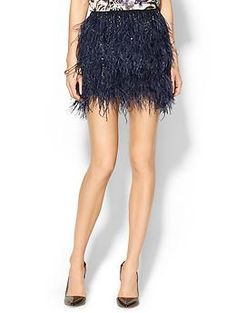Haute Hippie Ostrich Feather BB Mini Skirt | Piperlime