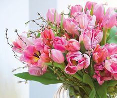 En dejlig buket tulipaner. Lige til at komme i forårshumør af.