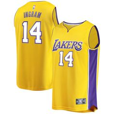 299c42145d9 Brandon Ingram Los Angeles Lakers Fanatics Branded Youth Fast Break Player  Jersey - Icon Edition - Gold