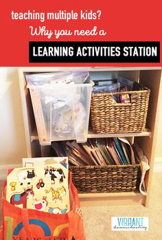 Homeschool Sanity Savers Part Why Your Classroom Needs a Learning Activities Station When Teaching Multiple Kids Activity Centers, Learning Centers, Learning Activities, Tot School, Home Schooling, Sticker Books, Teaching Kids, Classroom, Coloring Books