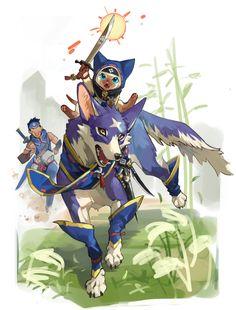 "TAPI岡@イラストお仕事募集中 on Twitter: ""… "" Monster Hunter Cat, Monster Hunter Series, Character Concept, Character Design, Darkest Dungeon, Pokemon Fan Art, Chica Anime Manga, Video Game Art, Cute Characters"