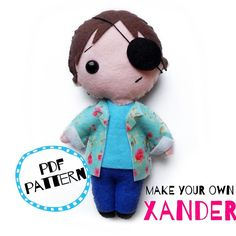 Xander PDF pattern Make Your Own, Make It Yourself, How To Make, Felt, Pdf, Pattern, Crafts, Felting, Manualidades
