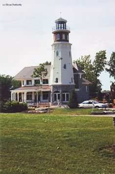 Island Street Boatyard Lighthouse in North Tonawanda, New York