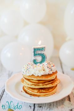 Have you ever made pancakes out of cake batter? Light, fluffy, sweet, and the perfect easy and special birthday breakfast treat!