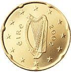 20 cent Irlanda: la tradizionale arpa celtica. Autore: Jarlath Hayes.