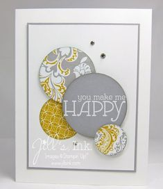 Happy Make N Take Card--versatile layout, perfect for using up scraps