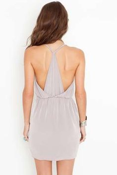 Racerback Wrap Dress - Taupe | Shop Dresses at Nasty Gal