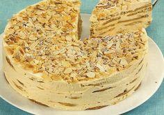 "Portuguese cake - My fav cake ""Bolo de Bolacha"" / Wafer Cake Portuguese Desserts, Portuguese Recipes, Portuguese Food, Vanilla Wafer Cake, Sweet Recipes, Cake Recipes, Fries In The Oven, Savoury Cake, Sweet Bread"