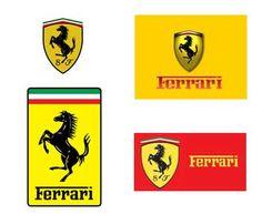 """FERRARI. El caballo encabritado era un símbolo que el conde Francesco Baracca, héroe de la aviación italiana de la I Guerra Mundial, pintaba en el lateral de sus aviones. Enzo Ferrari conoció a la condesa Paolina (madre del conde Baracca) en el circuito Savio de Ravena. La condesa le sugirió a Ferrari que usara el caballo negro en sus coches y le daría buena suerte. Las letras S y F se refieren a """"Scuderia Ferrari"""", y el amarillo del fondo es el color representativo de su lugar de…"""