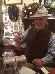 You will not find a more charming German store owner than Dieter - the REAL deal!  A photo shared by one of our GREAT customers last weekend - Nov 2014.