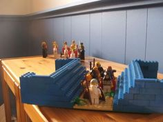 Crossing the Red Sea Lego Bible, Kids Sunday School Lessons, School Ideas, Family Worship Night, Crossing The Red Sea, Children's Church Crafts, Girls Bible, Bible Study For Kids, Vacation Bible School