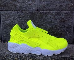 Top 10 Custom Nike Huarache Sneakers - Page 10 of 10 - WassupKicks Huaraches Shoes, Nike Shoes Huarache, Neon Shoes, Hype Shoes, Yellow Shoes, Cute Sneakers, Shoes Sneakers, Jordan Shoes Girls, Nike Shoes Air Force