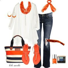 LOLO Moda: Spring fashion 2014...I'm not an orange fan but I don't mind try in' this look out!