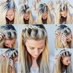 Image result for french braids hairstyles with hair straight