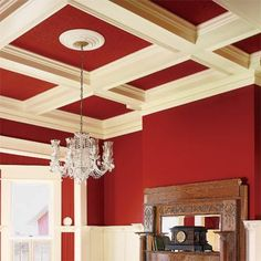 DIY coffered ceiling