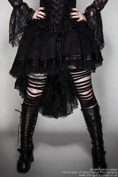 Mesh Black Bustle Fishtail Skirt