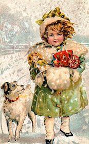 New Fashion Illustration Winter Snow Vintage Christmas Cards Ideas Vintage Christmas Images, Old Fashioned Christmas, Christmas Past, Victorian Christmas, Vintage Holiday, Christmas Pictures, Vintage Images, Christmas Postcards, Christmas Child
