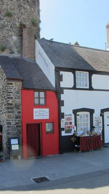 Quay House, The Smallest House in Great Britain - Conwy, Wales - A former fisherman's hut deemed too small for habitation is now a delightful tourist draw