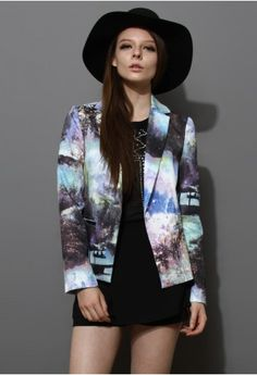 Gotta love a blazer when it's covered in a landscape print #currentlyobsessed