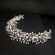 Bridal hair vine Bohemian Wedding headpiece by TheExquisiteBride