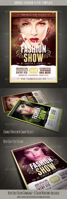 Grunge Fashion Flyer - http://graphicriver.net/item/grunge-fashion-flyer/5252548?ref=cruzine