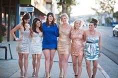 sequin/glitter bachelorette party theme