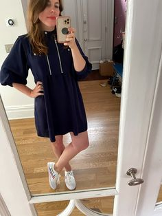 Striped Shirt Dress, Eyelet Dress, Short Sleeve Dresses, Dresses With Sleeves, Top Photo, Yellow Dress, Going Out, Summer Outfits, Summer Time