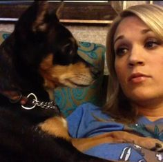 Carrie Underwood and her dog Ace!