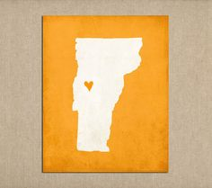 Vermont State Art Silhouette Map Personalized Print on Etsy, $16.00
