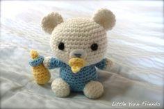 Lil' Baby Bear - free crochet pattern on Little Yarn Friends at http://littleyarnfriends.tumblr.com/post/26543719829/crochet-pattern-lil-baby-bear