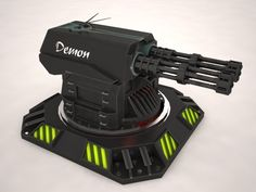 Turret Demon is a versatile high quality models to add more details and realism to your rendering projects. Fully detailed, textured models. Detailed enough for close-up renders.  http://www.turbosquid.com/3d-models/turret-demon-max/725152?referral=Francargil