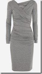 Diane von Furstenberg Bentley wrap-effect stretch-jersey dress Long sleeves Fashion Mode, Work Fashion, Dress Outfits, Fashion Dresses, Cute Outfits, Dress Skirt, Dress Up, Gray Dress, Shirred Dress