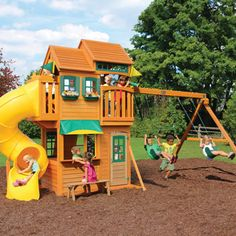 Cedar Summit Solowave Twin Mountain Lodge Cedar Playset Costco