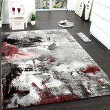 http://ift.tt/1KBaU6o Teppich Modern Designer Teppich Leinwand Optik Meliert Schattiert Grau Rot Creme Grösse:160230 cm Reviews
