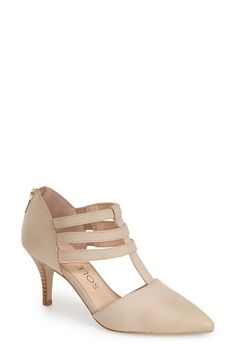 Sole Society 'Mallory' T-Strap Leather Pump (Women) available at #Nordstrom