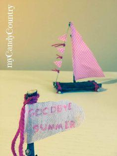Creare una barca a vela fai da te. Idea creativa decorare un piccolo angolo di casa.  #barca #faidate #handmade #riciclo #diycrafts #mycandycountry  Seguimi su: www.mycandycountry.it