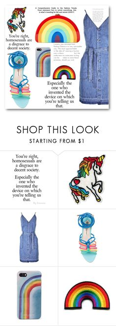 """""""Celebrate Pride Month!"""" by cassandria ❤ liked on Polyvore featuring J Brand, Sophia Webster, Marc Jacobs, Milly and pride"""