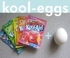 In the 90s, I dyed my hair with Kool-Aid. Last year, I dyed yarn with Kool-Aid. And this year, we're dyeing Easter eggs with Kool-Aid. I me...